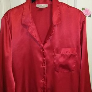 Red, satiny,sexy,Morgan Taylor pajamas